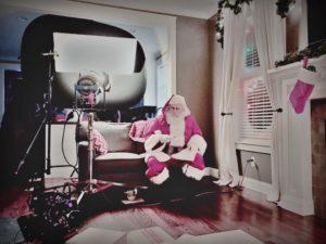 Santa enjoying some cookies!
