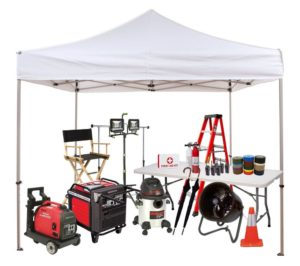camera / light & grip rental, generator, grip, electric, rental, tents, tables, chairs