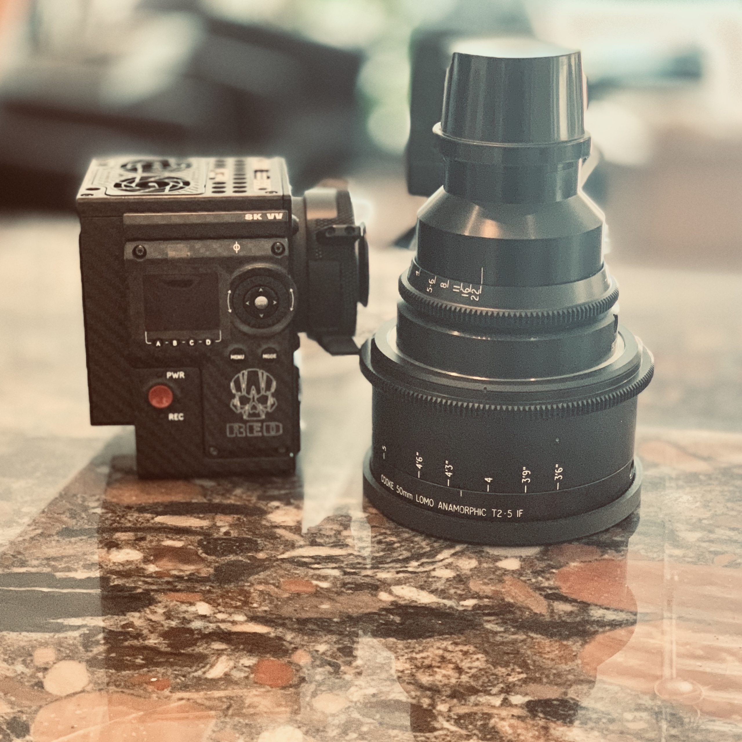 Cooke Panchro / Lomo Anamorphic Lens and Red camera, camera / light & grip rental, red, monstro, vv, 8k, camera rental, detroit based production company, film camera rental