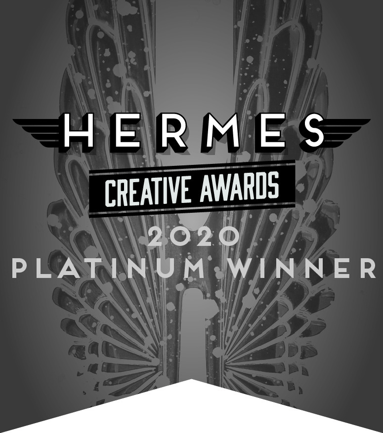 2020 platinum winner, Hermes award